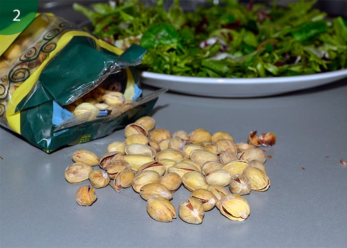 Añadir pistachos