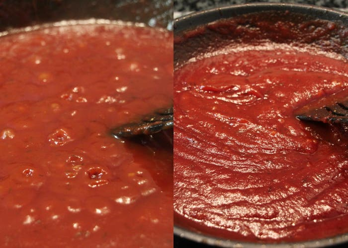 Tercer paso salsa barbacoa