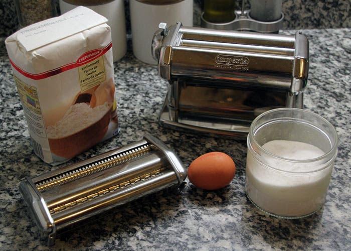 Ingredientes para la pasta fresca