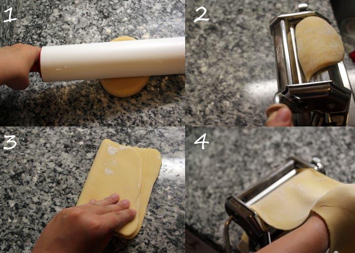 Paso 4 de la pasta fresca
