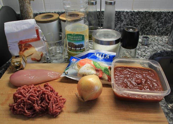 Ingredientes de la pizza barbacoa