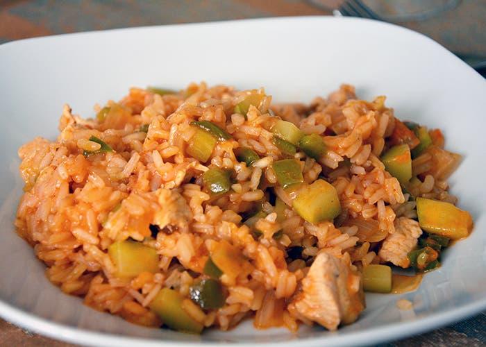 Delicioso plato de arroz