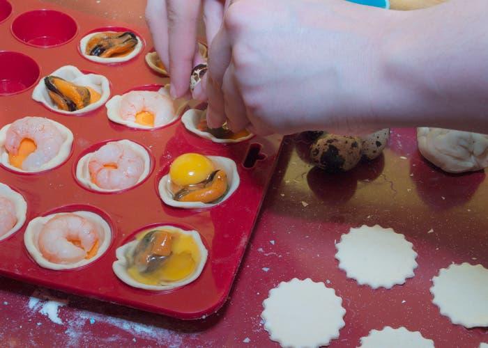 Paso 6: Añadir huevo de codorniz