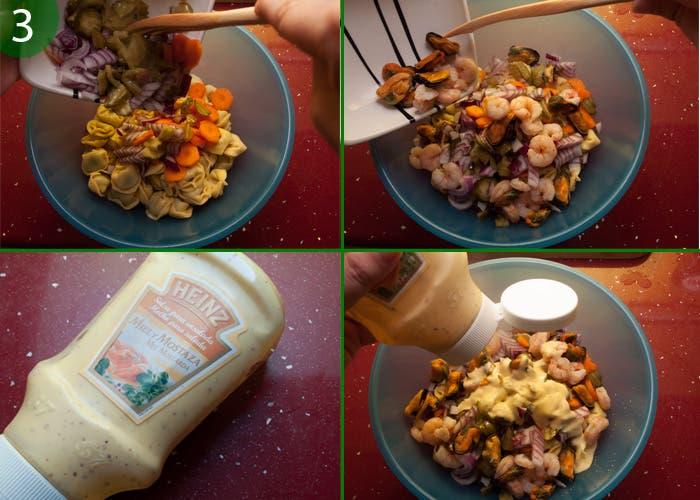 Ensalada de pasta con salsa de mostaza y miel un perfecto aliado para los días de verano