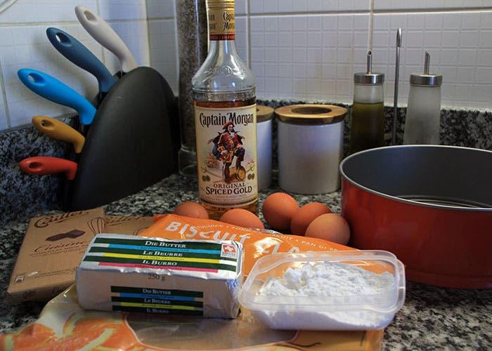 Ingredientes de la tarta de chocolate