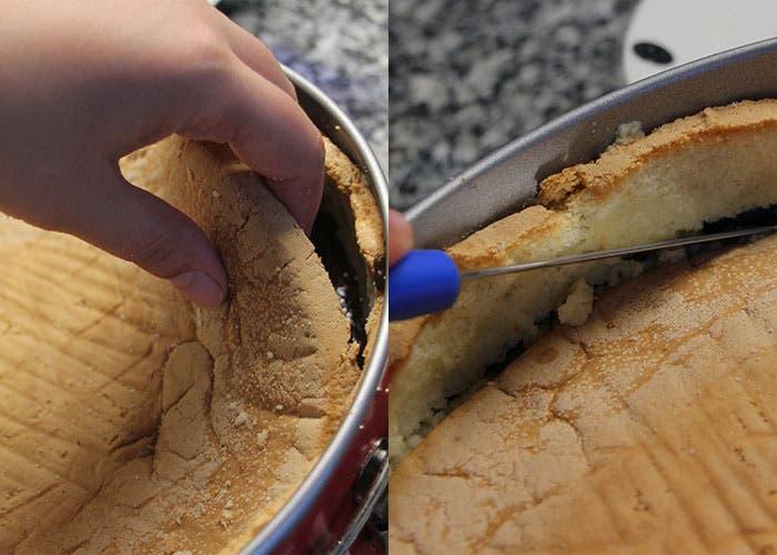 Paso 4 de la tarta de chocolate, tapar
