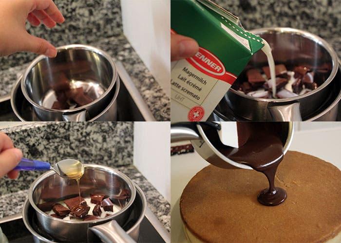 Paso 6 de la tarta de chocolate