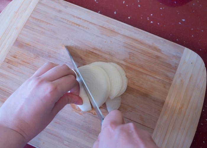 Paso 1 elaboración crema de lombarda