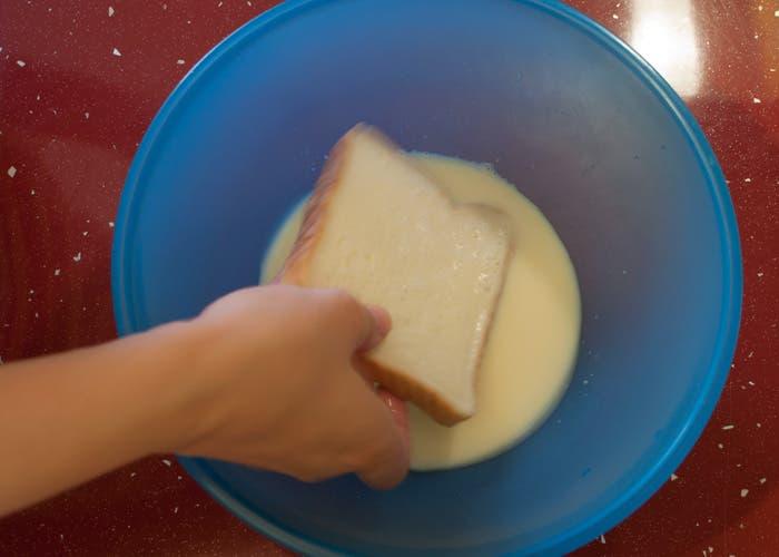 Paso 4 de la elaboración de las tostadas francesas