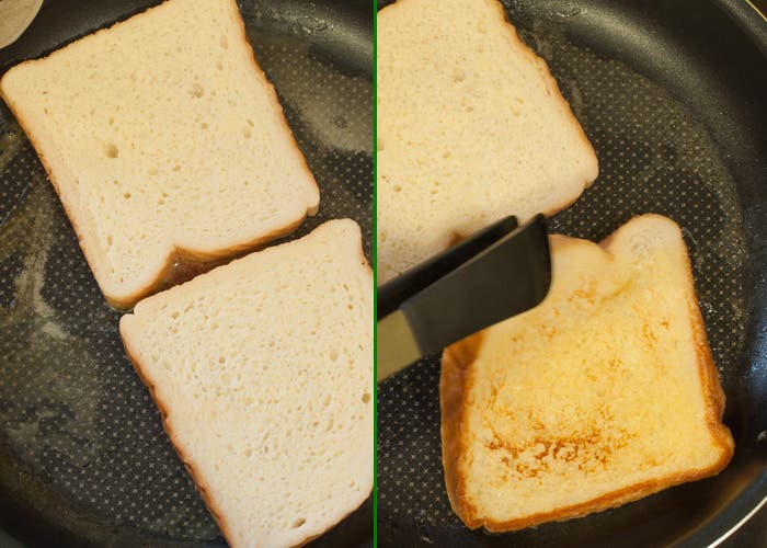 Paso 5 de la elaboración de las tostadas francesas