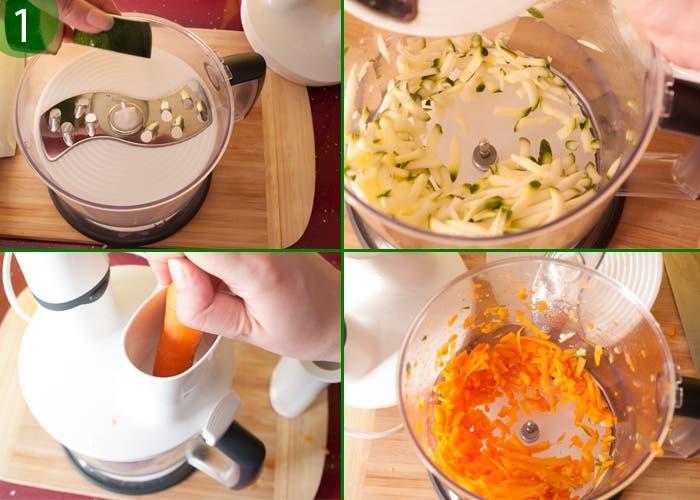 Paso 1 de la elaboración de la ensalada de garbánzos