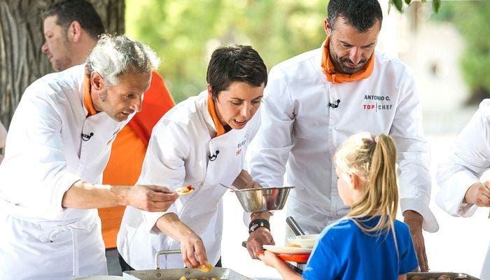 Momento de la prueba grupal en Top Chef 4