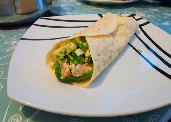 Burrito a la mesa terminado