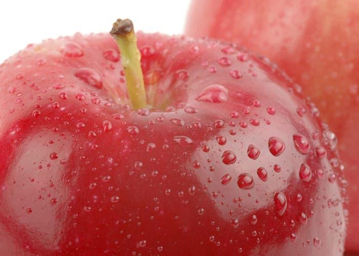 Detalle manzana roja