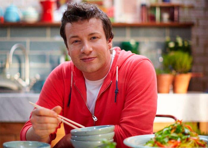 Retrato en la cocina de Jamie Oliver