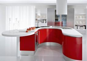 Cocina roja distribución U