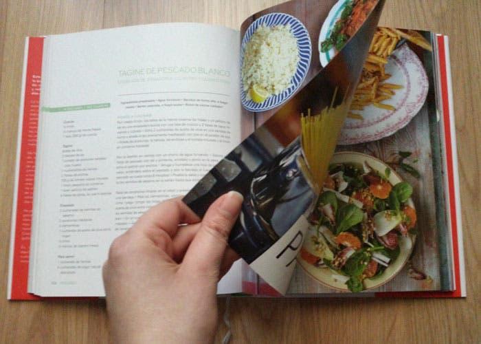 Interior del libro de Cocina LAs comidas de Jamie en 15 minutos