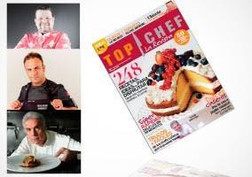 Portada y fotografías de chef que aparecen en primer número revista Top Chef