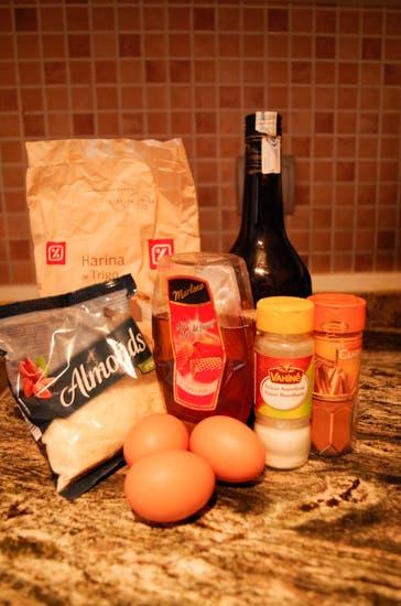 1. Ingredientes para el bizcocho