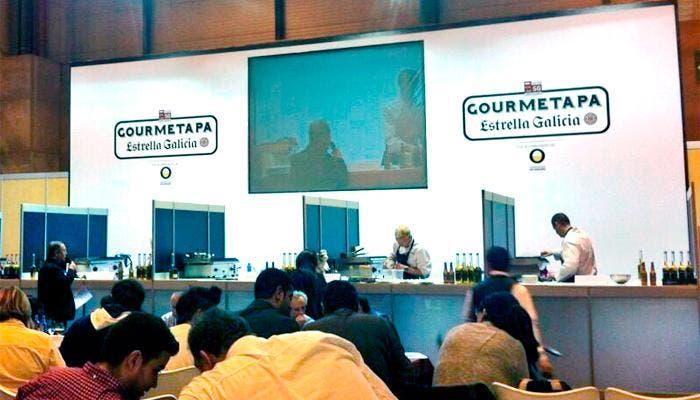 Momentos durantes el concurso de la tapa Gourment en el Salón del Gourmet