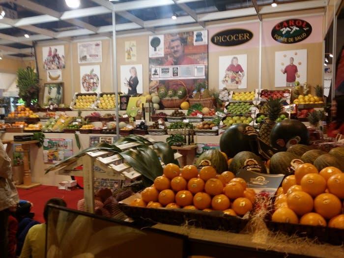 Stand de la fruta en el Salón del Gourmets
