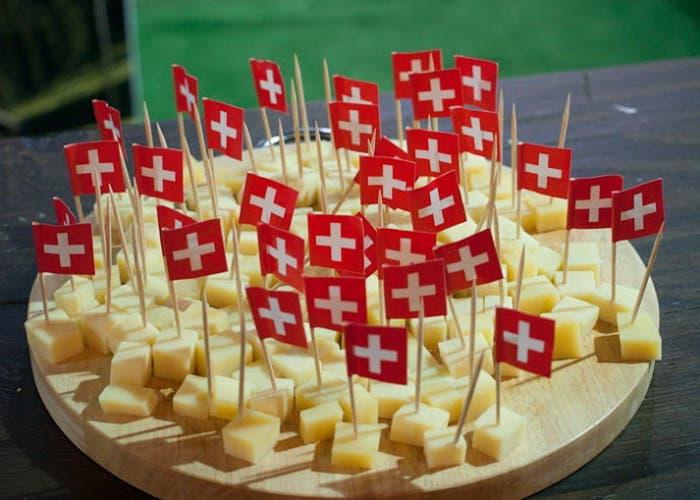 Queso en el stand de Suiza