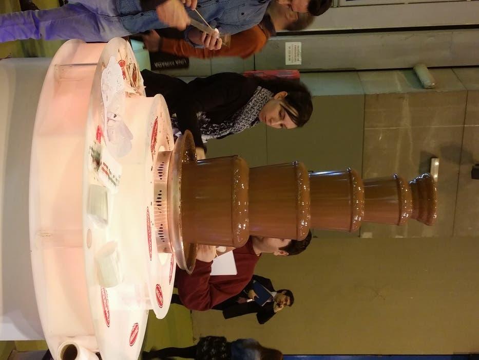 Torre de chocolate fundido