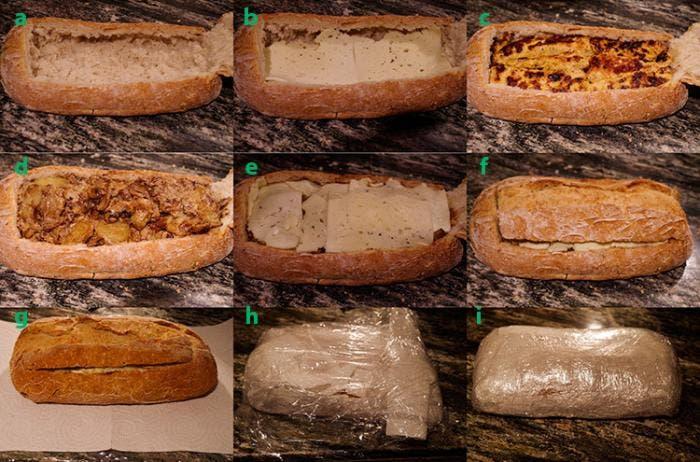 10. Rellenamos y cerramos el pan