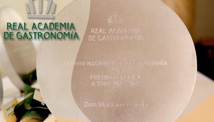 Galasdon del premio nacional de gastronomía del 2012