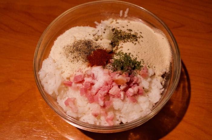 Ingredientes suppli di riso