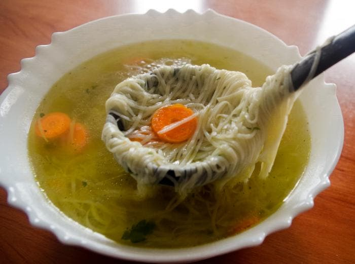 6. Servimos la sopa