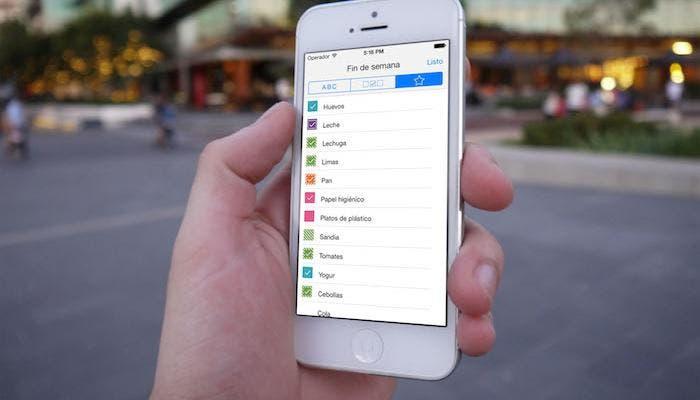 aplicaciones lista de la compra