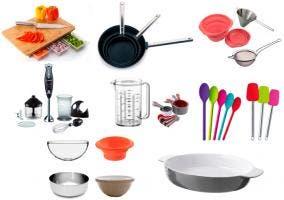 Varios utensilios básicos de cocina