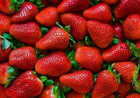 Montón de fresas frescas
