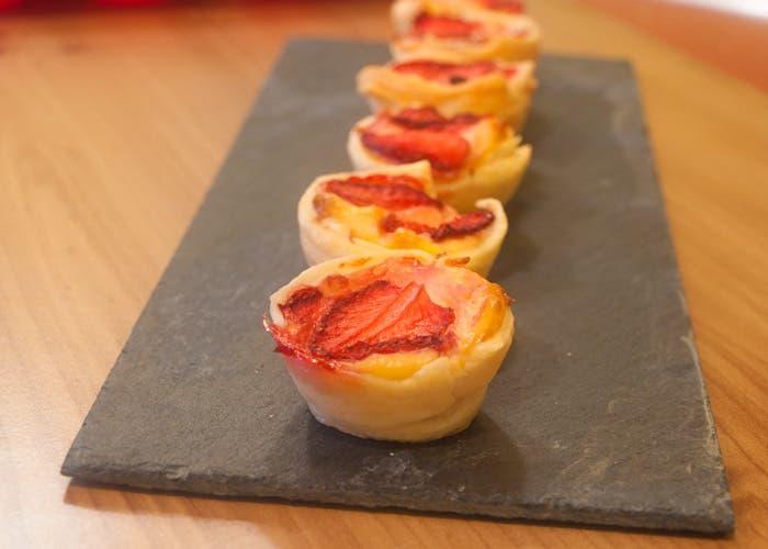 Presentación de las tartaletas de fresa