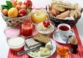 Muestra de un desayuno completo