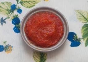 Presentación tomate frito