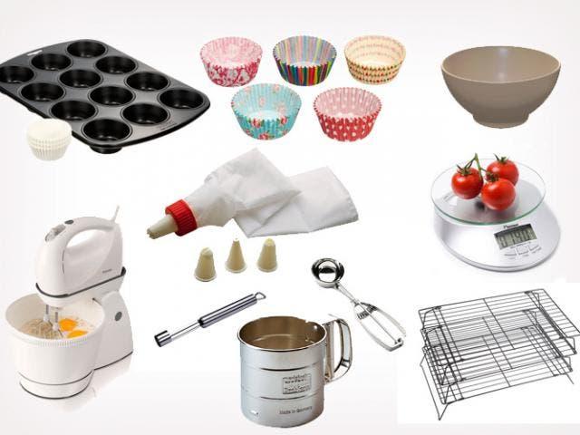 Utensilios b sicos para hacer cupcakes for Utensilios de cocina para zurdos