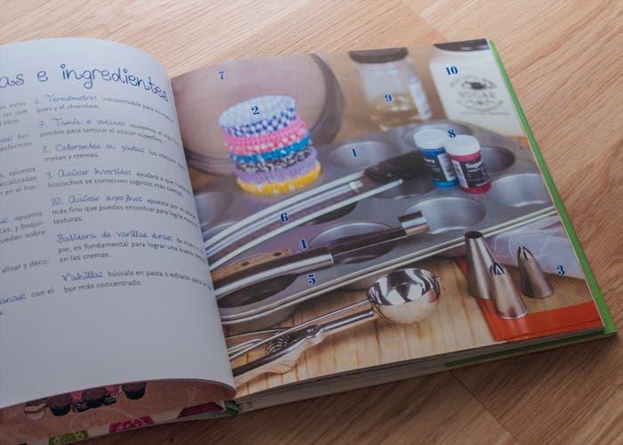 Página sobre utensilios para hacer cupcakes