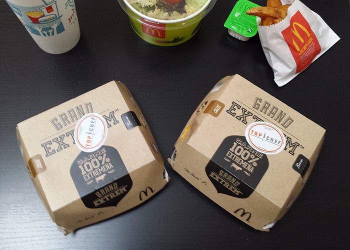 varias hamburguesas en su envase de McDonalds