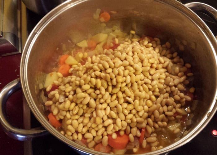 Añadir soja al sofrito