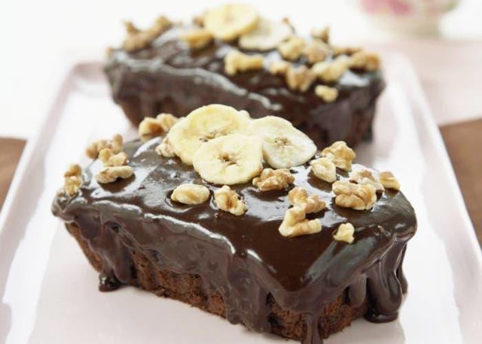 Budin de chocolate y plátano