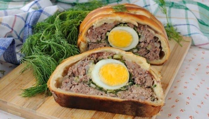 Receta de pan de carne en hojaldre