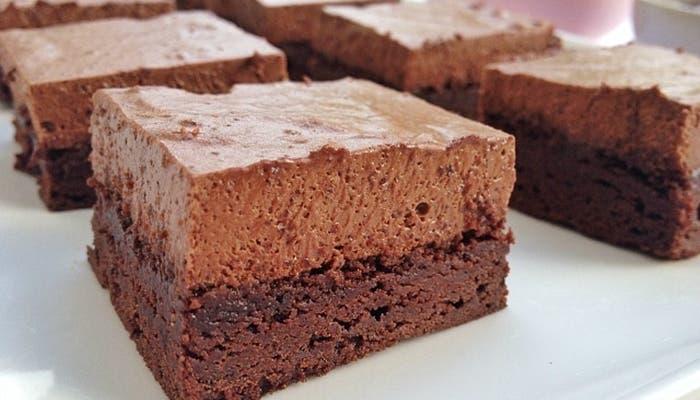 Como hacer brownies de chocolate con nueces y crema moka