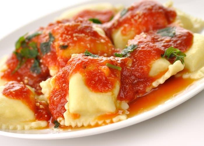 Receta de raviolis de pollo