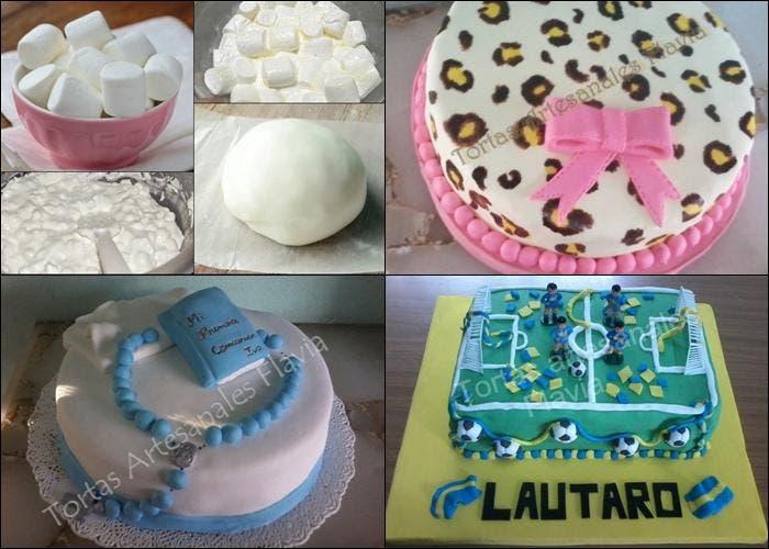 Receta de fondant para decorar pasteles