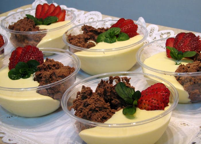 Mousse de chocolate blanco y queso mascarpone, receta paso a paso