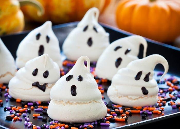 Huesos de merengue para Halloween