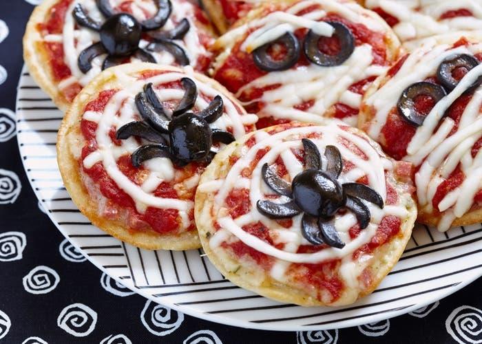 Pizzetas halloween divertidas