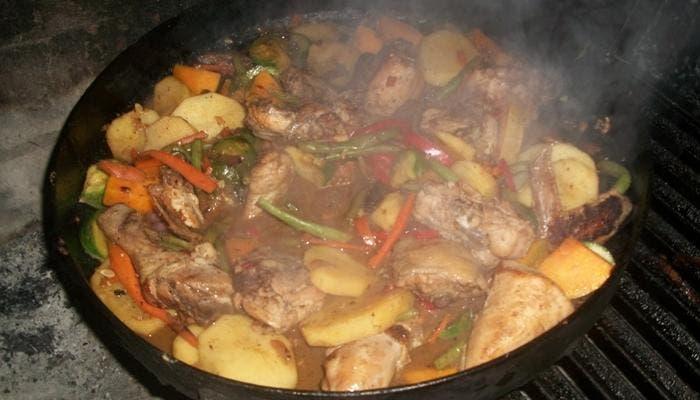pollo al wok